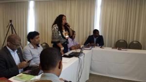 Eliane Bastos falou das ações do PMDB Afro que acontecem no Amapá.