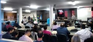 Formação lotou o plenário da Câmara Municipal de Mossoró.