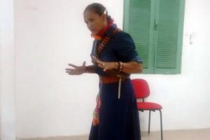 Durante o encontro, foi realizada uma apresentação sobre a história de Maria Bonita.