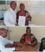 Presidente da FUGMA e a Assistente Social