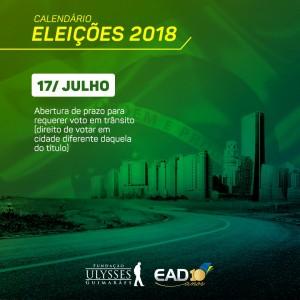 17 julho - Eleicoes2018
