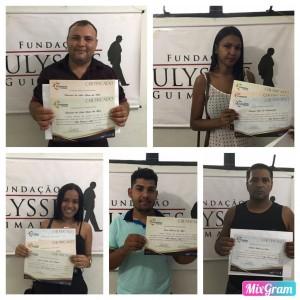 Alunos certificados nos cursos da FUG