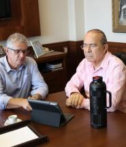 A apresentação foi para o Vice-Presidente de Formação Política da FUG, Eliseu Padilha